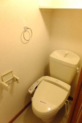 温水便座付トイレ完備