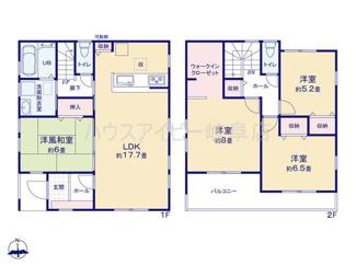 岐阜市茜部本郷 新築建売 令和3年5月完成予定 駐車スペース並列3台可能 ウォークインクローゼットあり