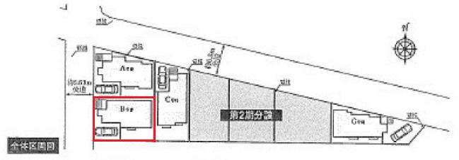 【区画図】新築 寒川町大曲4丁目 B号棟
