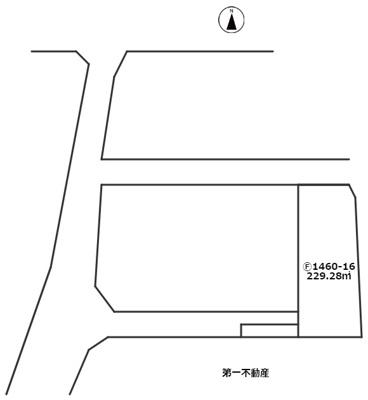 【区画図】加東市社 売土地