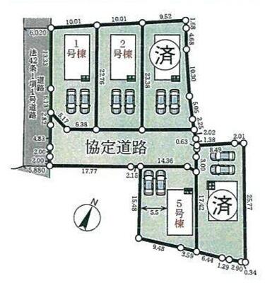 【区画図】加東市天神新築②号地