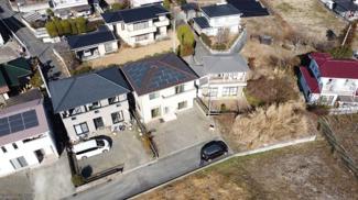 ドローンで撮影です。太陽光パネル+オール電化住宅