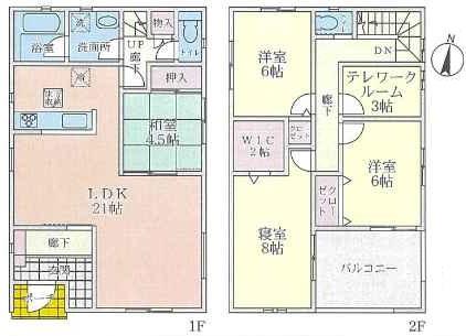 (9号地)、価格5090万円、4LDK+テレワークルーム、土地面積133.69㎡、建物面積123.12㎡