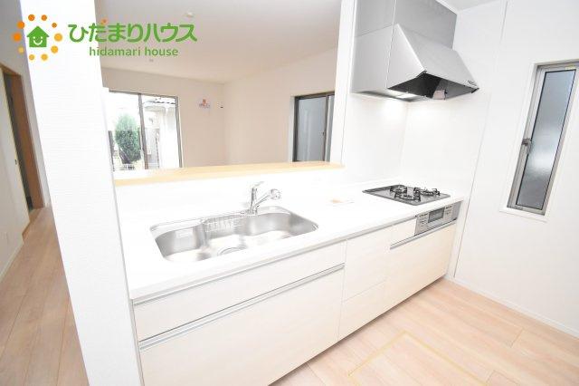 【キッチン】伊奈町西小針 第5 新築一戸建て クレイドルガーデン 02