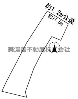 【区画図】56276 岐阜市領下土地