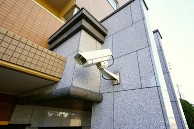 防犯カメラが設置されています。