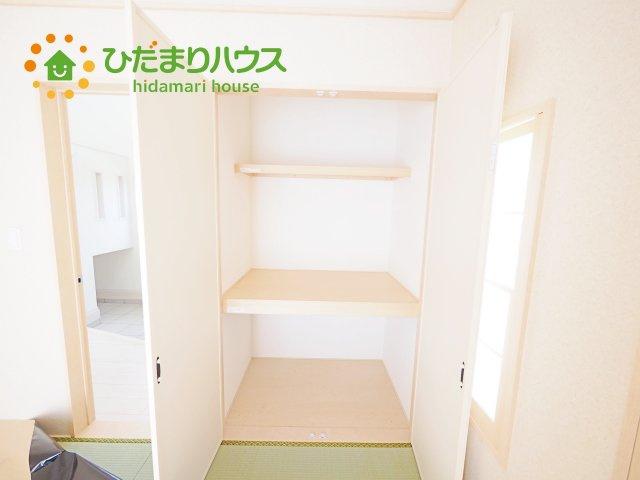 和室にも大容量のクローゼット完備! お布団やお子様のおもちゃなどがスッキリ収納できますね(^^♪