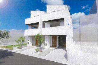 【外観パース】新築一戸建 川崎市中原区上平間 2号棟