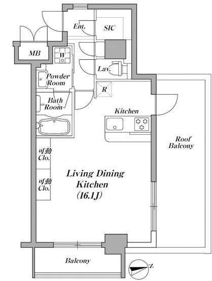 広い洋室16帖とSIC・可動収納ルーフバルコニーがポイント♪
