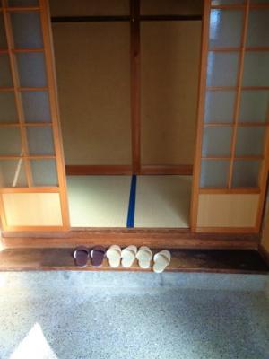 【玄関】針中野3戸建て貸家