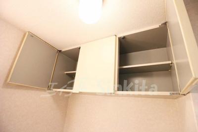 洗面脱衣場の上部棚