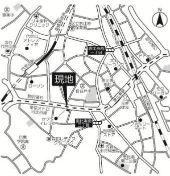 【地図】アサンブレ恵比寿