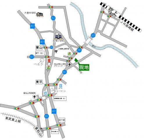 吹上駅より約5.2km 東松山駅より約5.3km 2路線利用可能