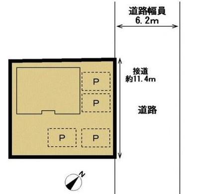 【区画図】浜北区中瀬 中古住宅 KA