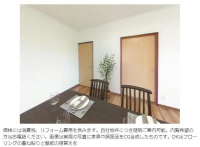 家具はイメージとなります。