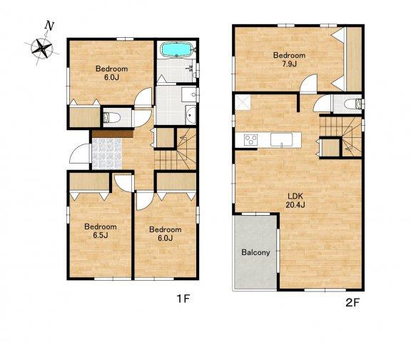 ◇Floor plan◇参考プランはあくまでたたき台。家族構成やライフスタイルに合わせて柔軟にカスタマイズすることができます。