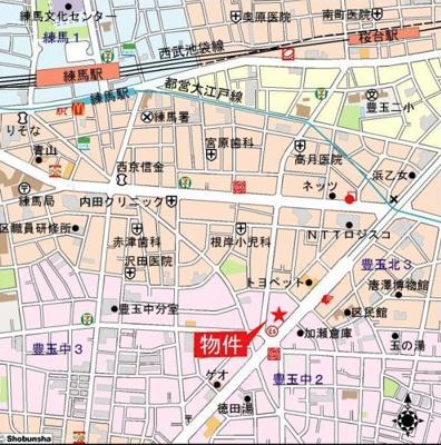 【地図】プレミアコート桜台