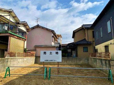 現在更地。建築条件無し!お好きな工務店でご自由に家を建てられます!
