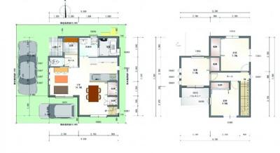 建物プラン例(3LDK)、建物面積71.28㎡