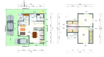 建物プラン例(2LDK)