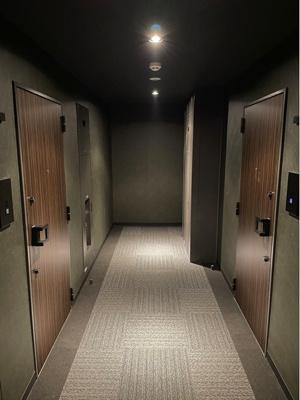 共用廊下は防犯性の高い内廊下仕様です。