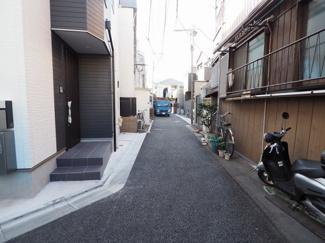 車通りの少ない住宅街!