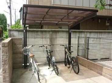 駐輪スペース。