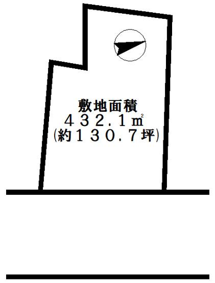 【土地図】たつの市新宮町新宮 売土地