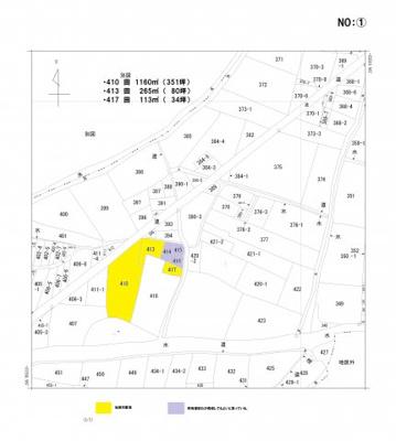 【区画図】農地)八女市前古賀①(410)
