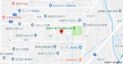 【地図】川添ハイツ (株)Roots