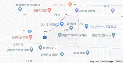【地図】栄町1丁目笹井貸家 (株)Roots