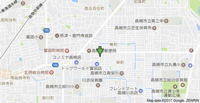 【地図】中谷借家2戸一 (株)Roots
