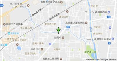 【地図】東五百住莊 (株)Roots