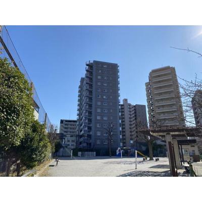 鉄筋鉄骨コンクリート造の13階建てマンションです。