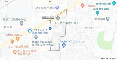 【地図】ジェイハーム高槻 (株)Roots