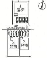 【区画図】太田市新田木崎町 2号棟