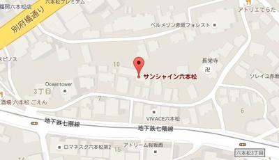【地図】サンシャイン六本松