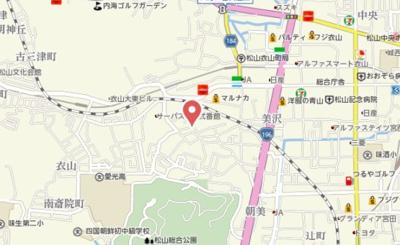 【地図】Grand-room朝日ヶ丘Ⅱ