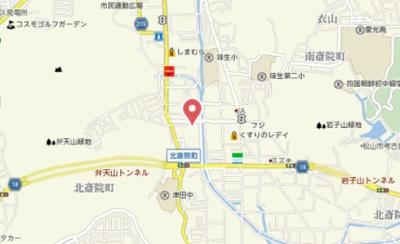 【地図】プレジール北斎院