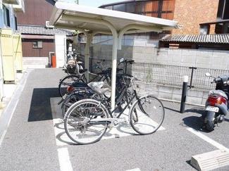 自転車置場が有ります。