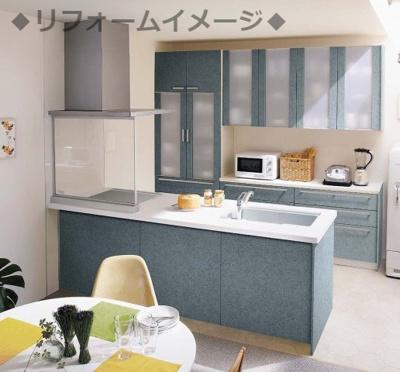 ◆リフォームイメージ◆対面キッチンへのレイアウト変更も可能です。