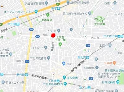 【地図】B CITY ART RESIDENCE KITAZAWA
