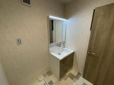 洗面・ランドリースペースです。