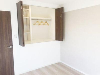 全室収納付、家具を置かず居室部分を有効的に使えます。