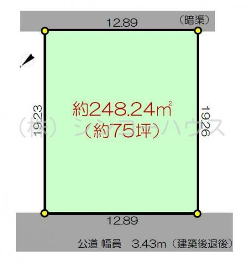 【土地図】加須市元町 売地
