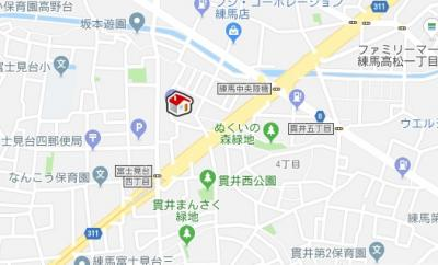 【地図】レオネクストメゾン グリシーヌ(48051-109)