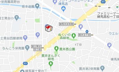 【地図】レオネクストメゾン グリシーヌ(48051-106)