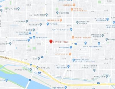 【地図】ロイヤルコート松山・