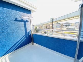 千葉市若葉区桜木北 中古戸建て 桜木駅 眺望良好の南面バルコニーです。