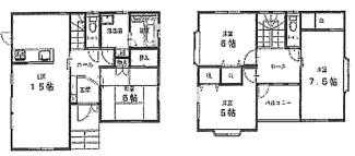 千葉市若葉区桜木北 中古戸建て 桜木駅 4LDKの全室収納付きのお部屋となっております。